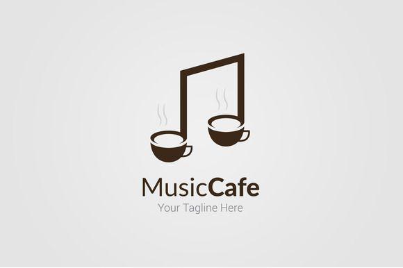 music cafe logo template creativework247 logo design