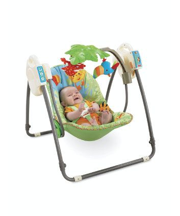 0e5a3b6c4162 Fisher Price Rainforest™ Open Top Take Along Baby Swing™ £70