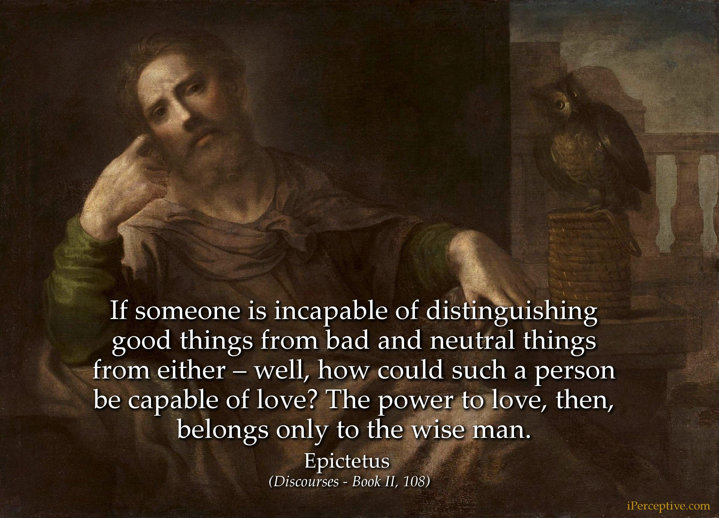 Epictetus Stoic Quote On Love If Someone Is Incapable Of Distinguishing Good Things From Stoic Quotes Top Movie Quotes Stoicism Quotes