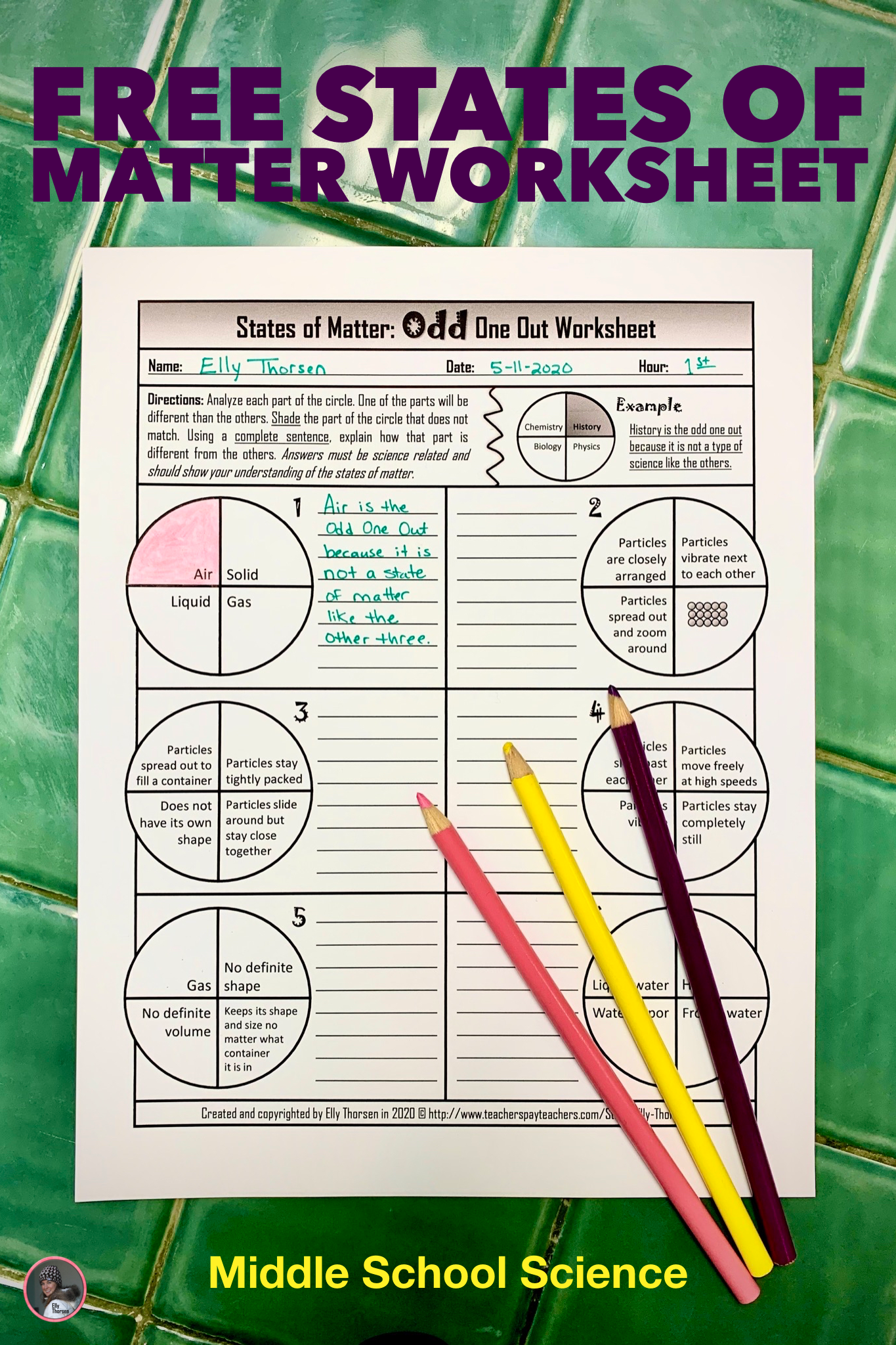 Science States Of Matter Worksheet   Printable Worksheets and Activities  for Teachers [ 2048 x 1365 Pixel ]