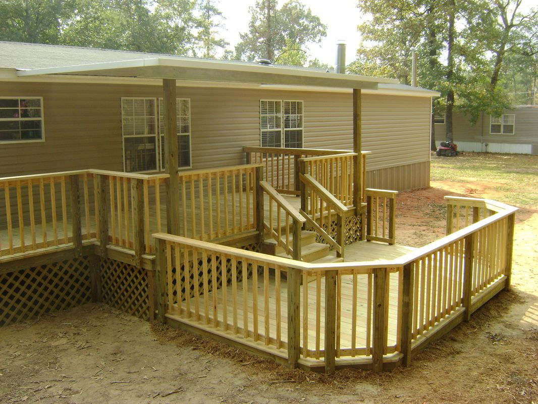 Bossier City Shreveport La Sunset Decks And Pergolas Mobile Homes Mobile Home Porch Remodeling Mobile Homes Mobile Home Deck