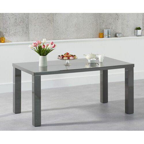 Essgruppe Crovetti mit 6 Stühlen und 2 Bänken 17 Stories Farbe (Tisch): Dunkelgrau, Farbe (Stühle): Lila, Farbe (Bank): Schwarz