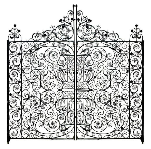 Beautiful Italian 1800s Circa wrought iron fenceAntique Wrought