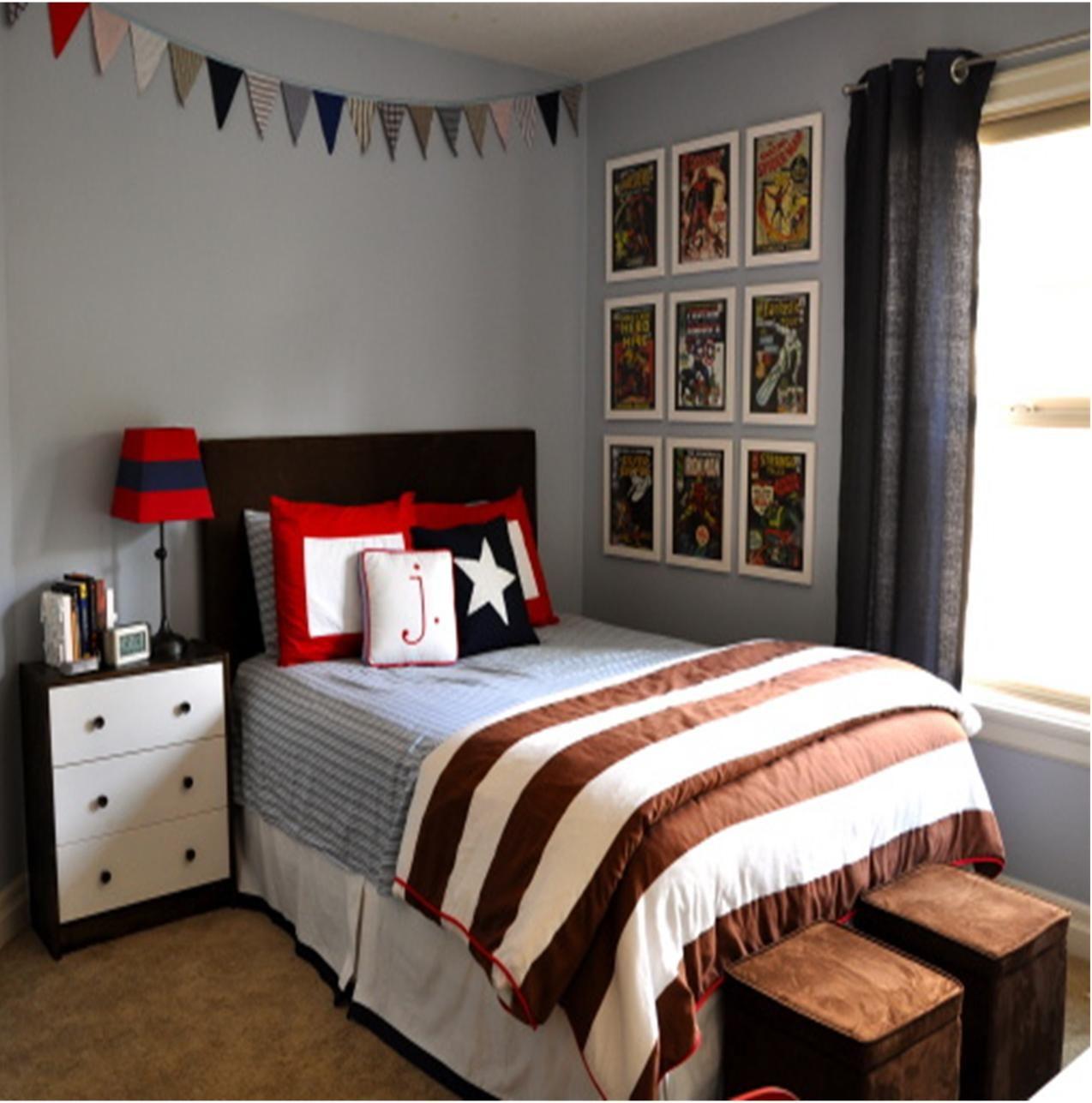 Nice Blue And Brown Boy S Room
