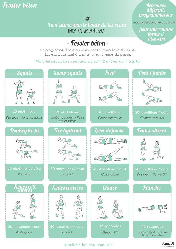 Programme fessier en béton- Stephanie Pinna Massy #béton #fessier #fitness #Massy #Pinna #Programme...