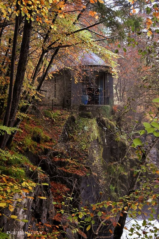 Ossians's Hall used for nature viewing , The Hermitage, Scotland