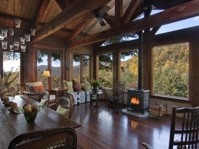 Living Room With Views of North Carolina Mountains
