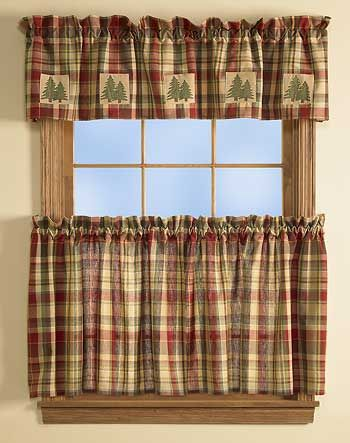 Red Tan And Green Plaid Curtains I Like This Fabric For Future Use