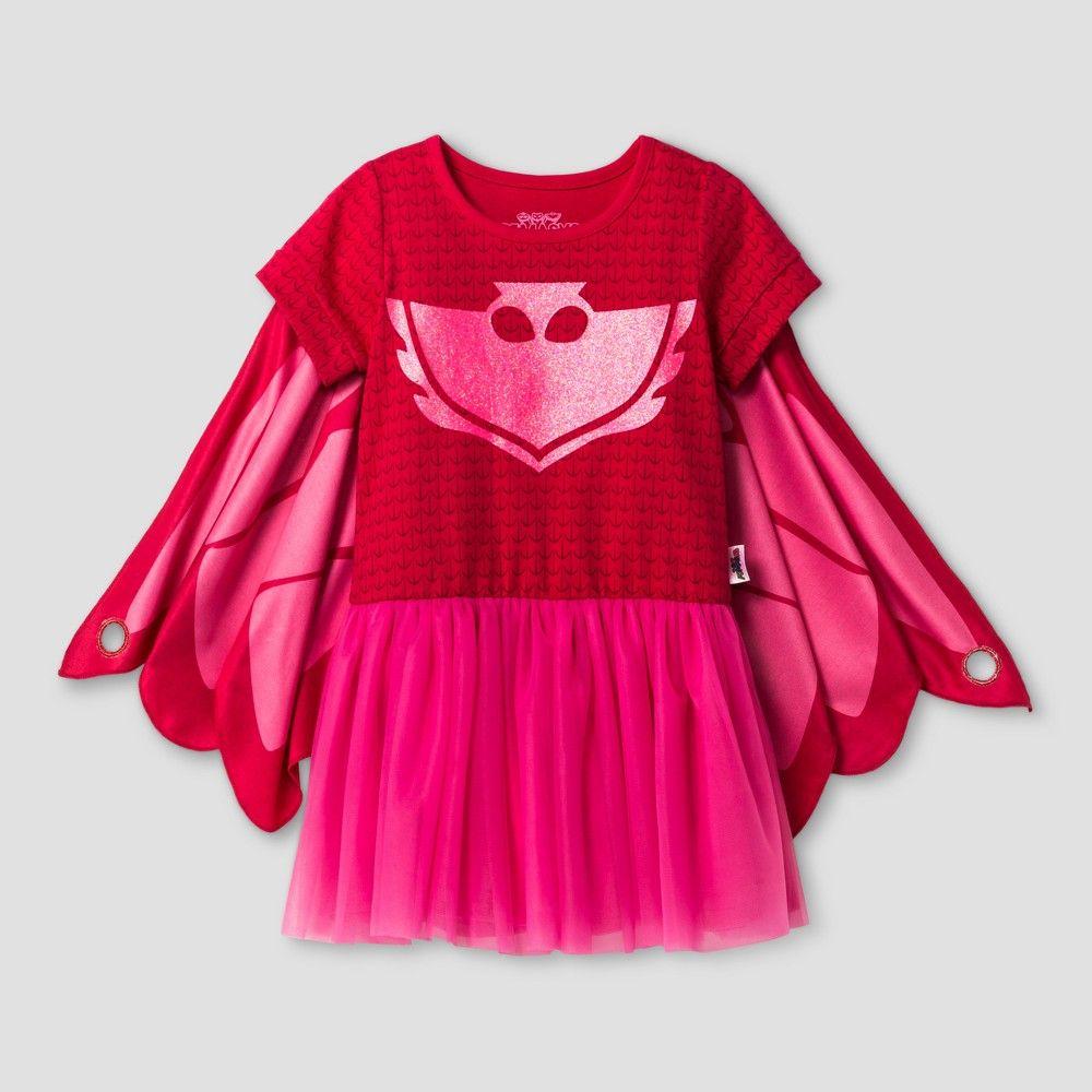 Toddler Girls Pj Masks Owlette T Shirt Dress Pink 4t Toddler