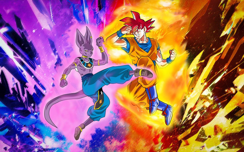 Wallpaper Goku Ssg Vs Bills By Dony910 Dragon Ball Super Goku