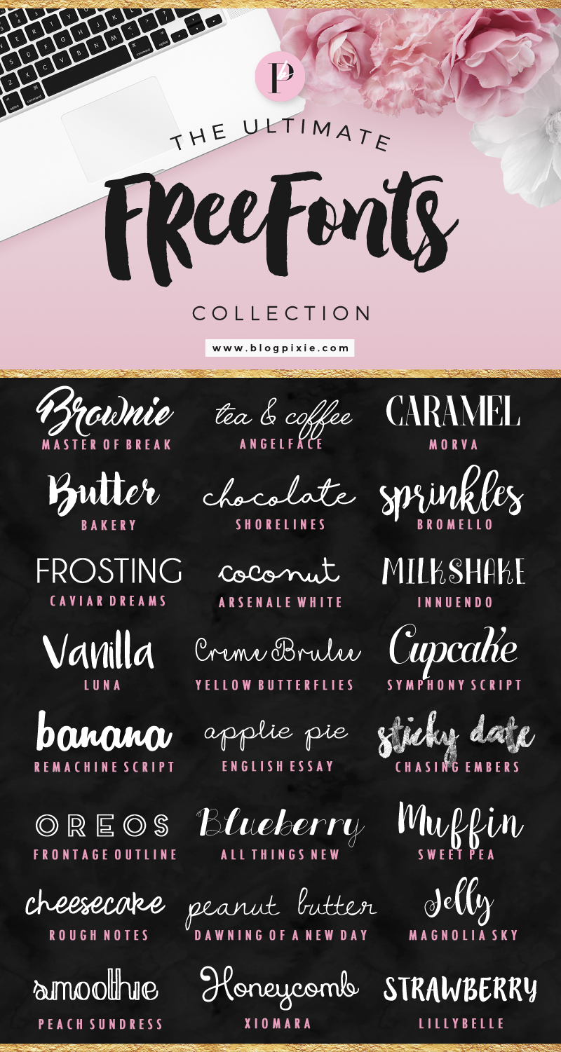 The Ultimate Free Fonts Collection Lettering, Cricut