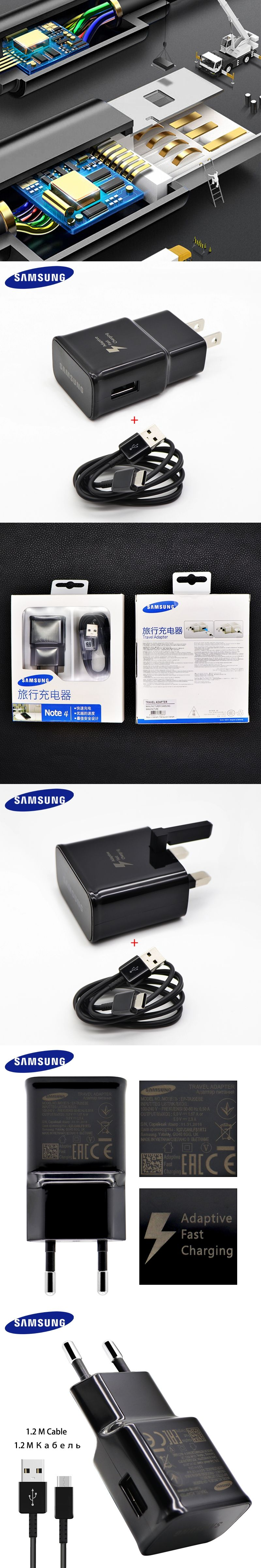 Original Samsung Galaxy S8 S8 plus Fast Charger Type C Adaptive Quick Charger
