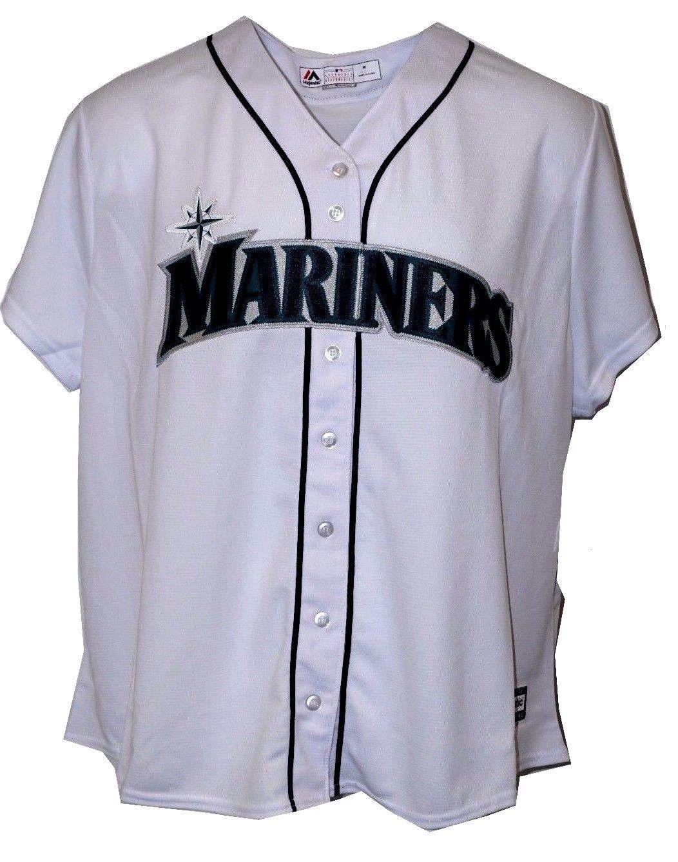 san francisco 6ac37 1363c Seattle Mariners MLB Baseball Jersey White #SeattleMariners ...