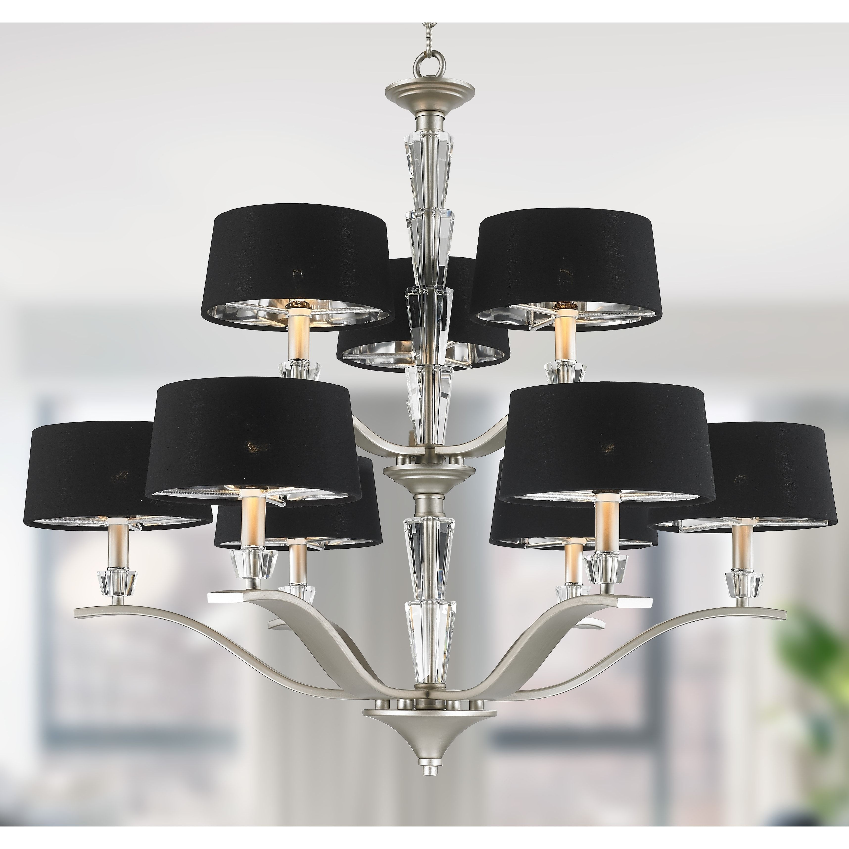 Brilliance Lighting and Chandeliers Glam Collection 9 Light Matte