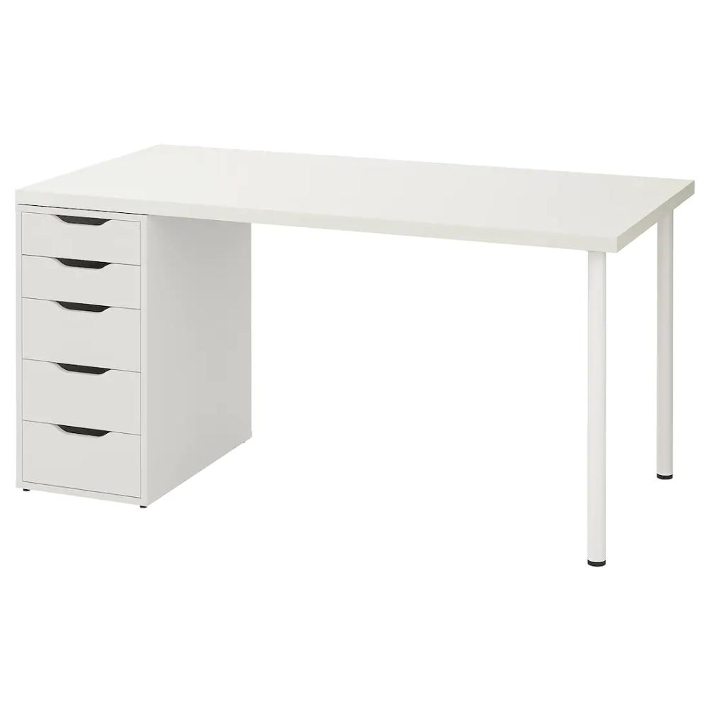 Linnmon Alex Table White 59x29 1 2 Ikea