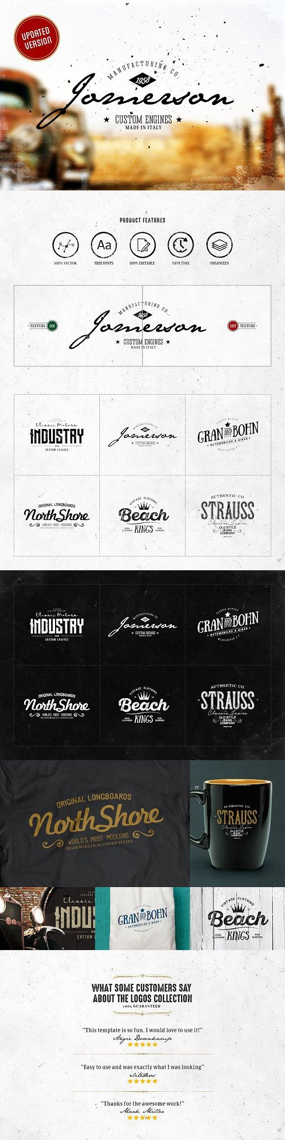 Vintage Logos Design Vol.07 Vintage logo design, Retro logo