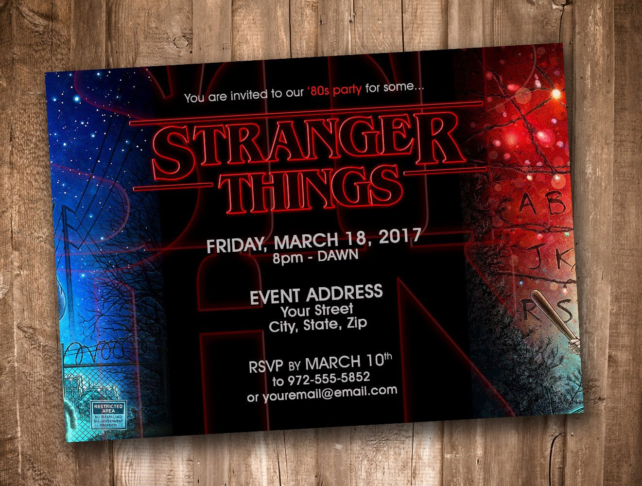 Stranger Things Party Invitation *Personalized Digital Printable* by ...