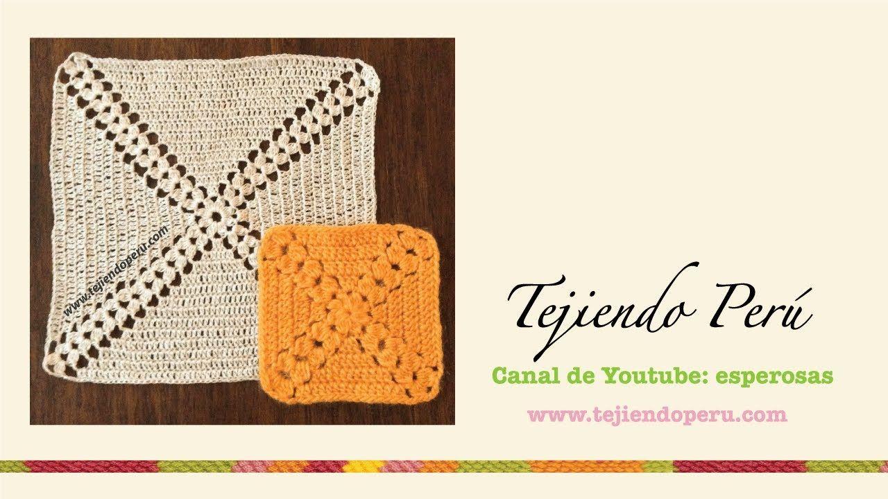 Cuadrado sin fin con piñas tejido a crochet | Crochet | Pinterest ...