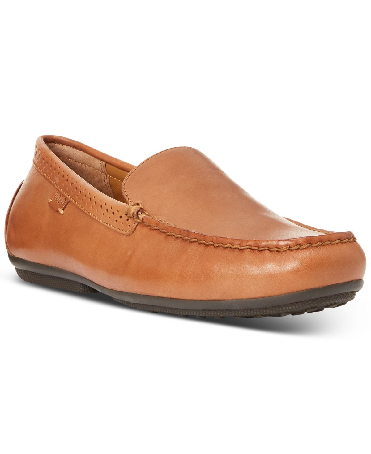 Polo Ralph Lauren Men/'s Shoes Redden Casual Driving Leather Loafers Polo Tan