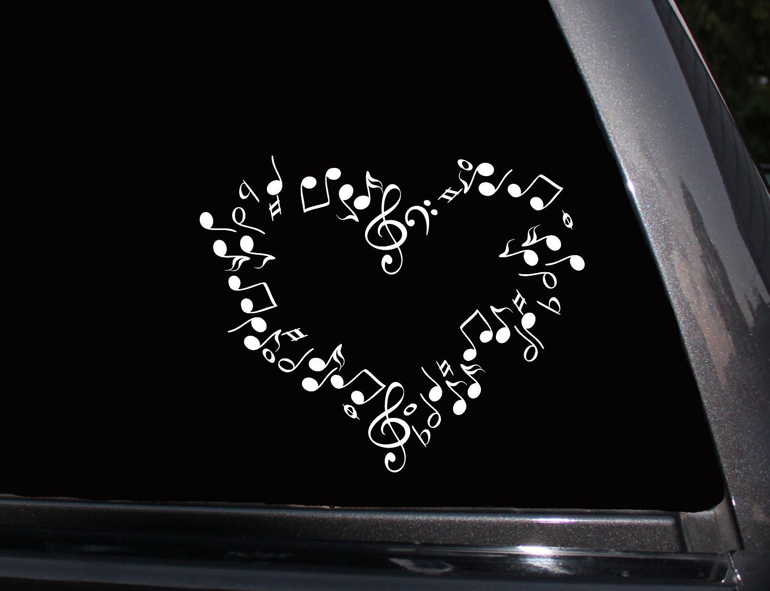I Love Music Music Note Heart Vinyl Decal Phone Decal Laptop Decal Wall Decal Car Decal Sticker Cute Car Decals Unique Vinyl Decals Music Wall Decal [ 1151 x 1500 Pixel ]