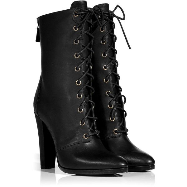 Boots for Women, Booties On Sale, Black, Leather, 2017, 3.5 Balmain