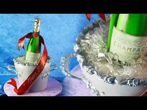 3D Champagne Bottle Ice Bucket Cake Tutorial - Sample