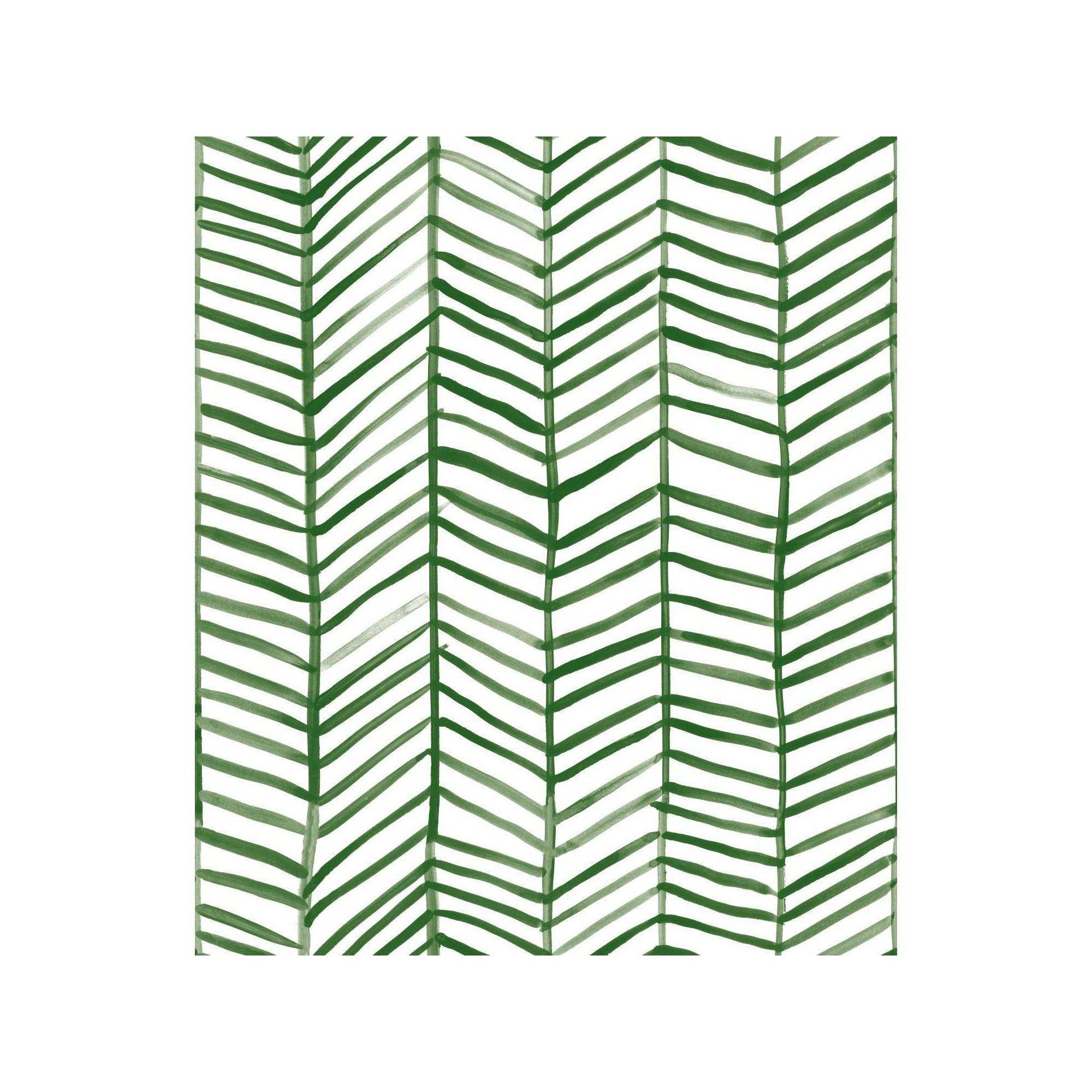 Roommates Cat Coquillette Herringbone Peel And Stick Wallpaper Green Peel And Stick Wallpaper Herringbone Wallpaper Wallpaper