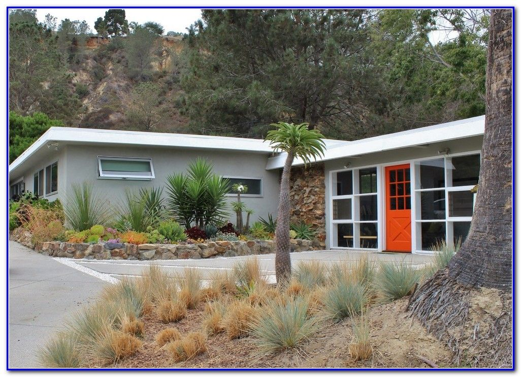 Mid century modern paint colors exterior garden and - Modern house color schemes exterior ...