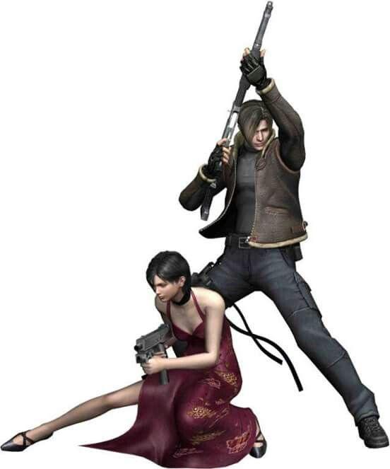 RE4: Leon Kennedy & Ada Wong.