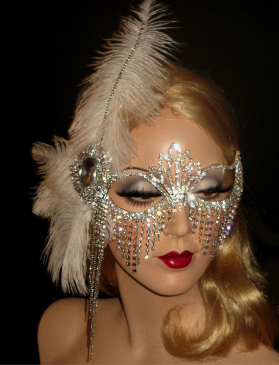 a3f9aa6f5e2d BEDAZZLED FLAPPER MASQUERADE with Rhinestone Fringe