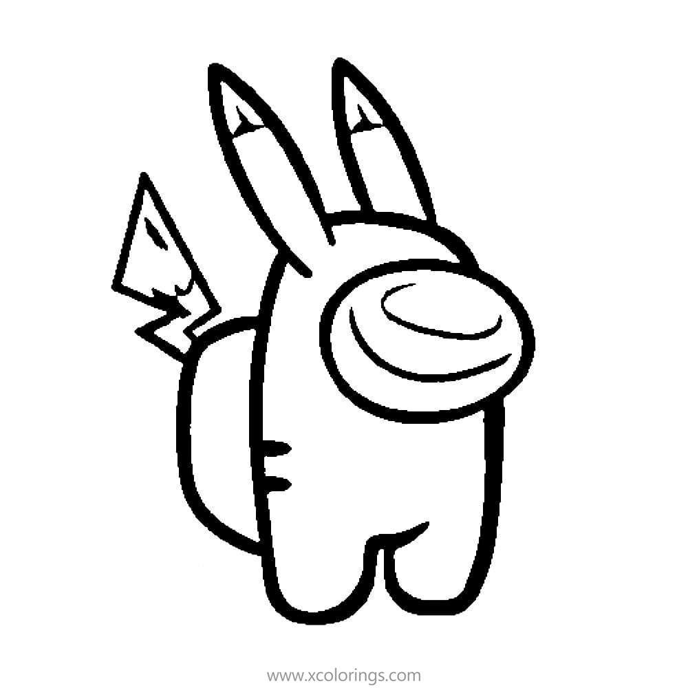 Among Us Coloring Pages Pikachu In 2020 Coloring Pages Halloween Arts And Crafts Cute Pokemon