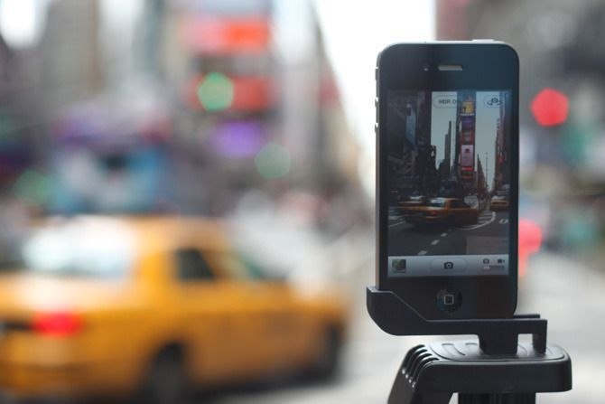 """The """"Glif"""" by Studio Neat. This nifty iPhone photography accessory was an early success on Kickstarter [http://kck.st/v4WC80]."""