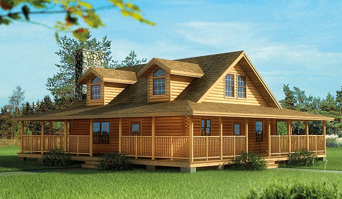 Log homes with wrap around porch plan w5291nd eklmont for House wrap prices