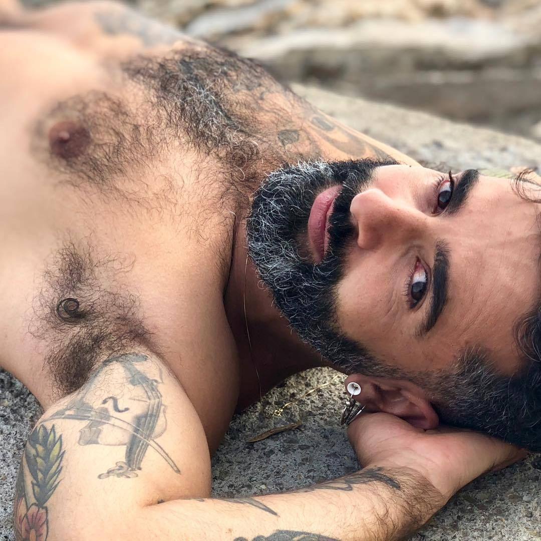 Gomez bearded men feeling tits movie