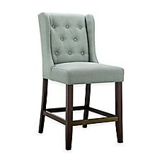 image of Madison Park Cleo Counter Stool in Slate Blue