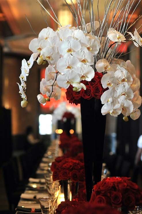 For High Drama Centerpieces Top Arrangements Of Deep Red