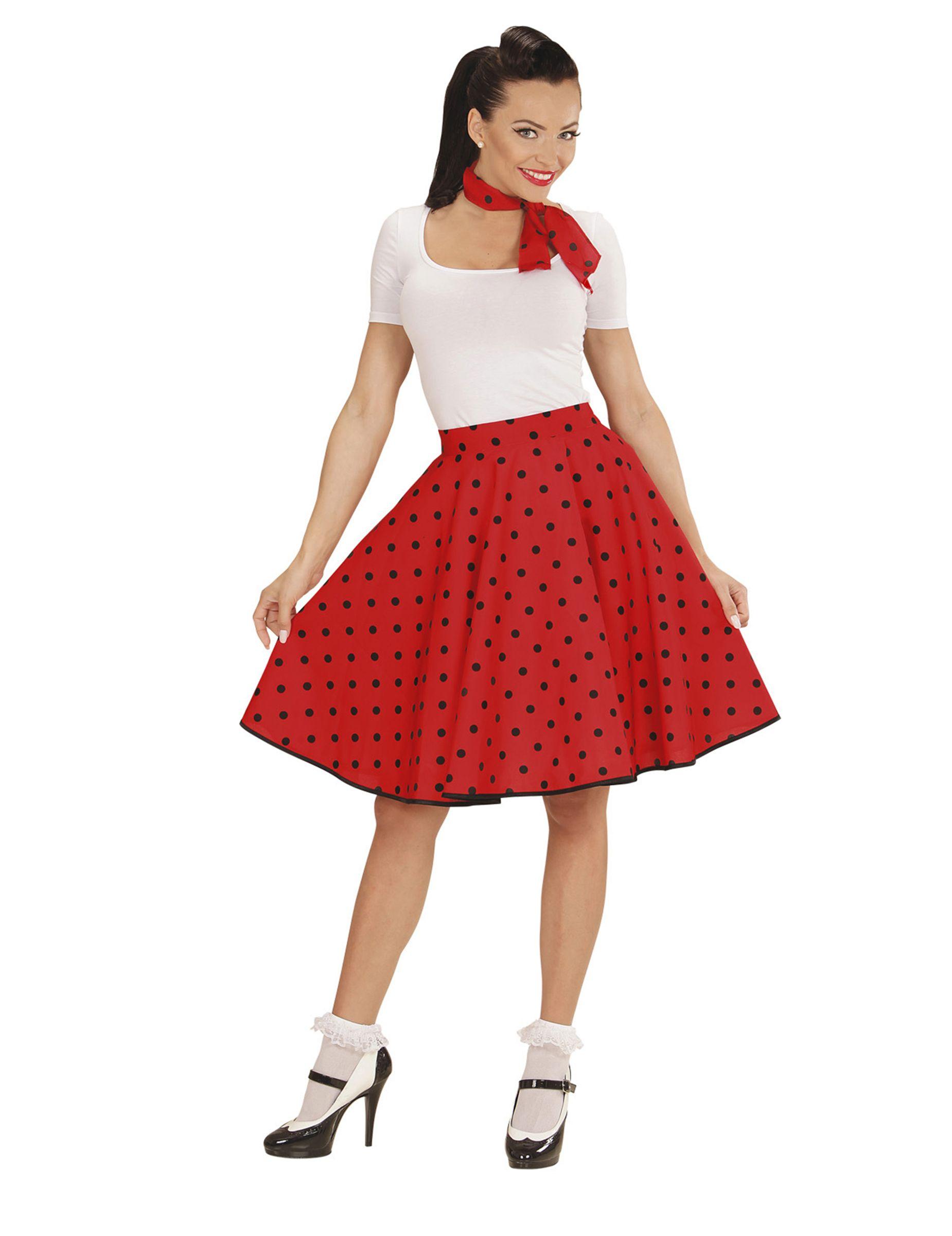 07d9b1aaa68449 50er Jahre Damen-Rock und -Halstuch rot , günstige Faschings Kostüme bei  Karneval Megastore, der größte Karneval und Faschings Kostüm- und  Partyartikel ...