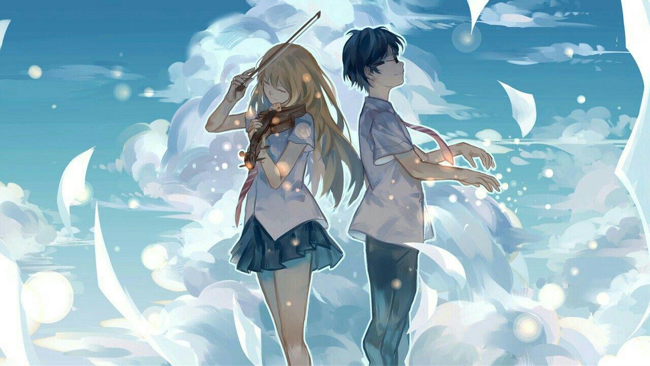 Shigatsu wa kimi no uso / Kaori and arima Anime, Hd