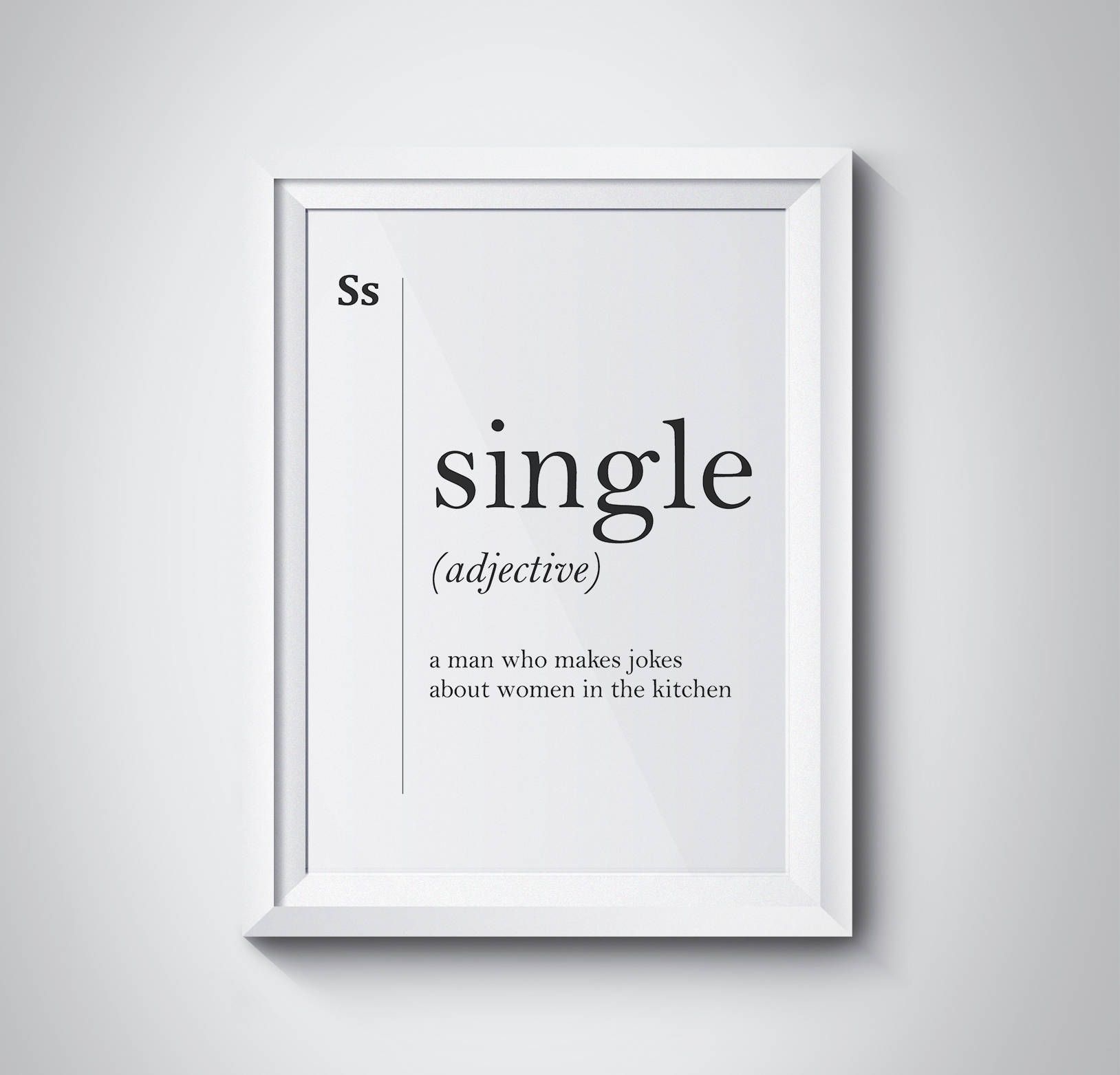 Single Definition, Gift for Him, Dictionary Art Print, Office Decor, Minimalist Poster, Single Man Gift, Funny Definition Print, #HQDEF077 by HQstudio on Etsy