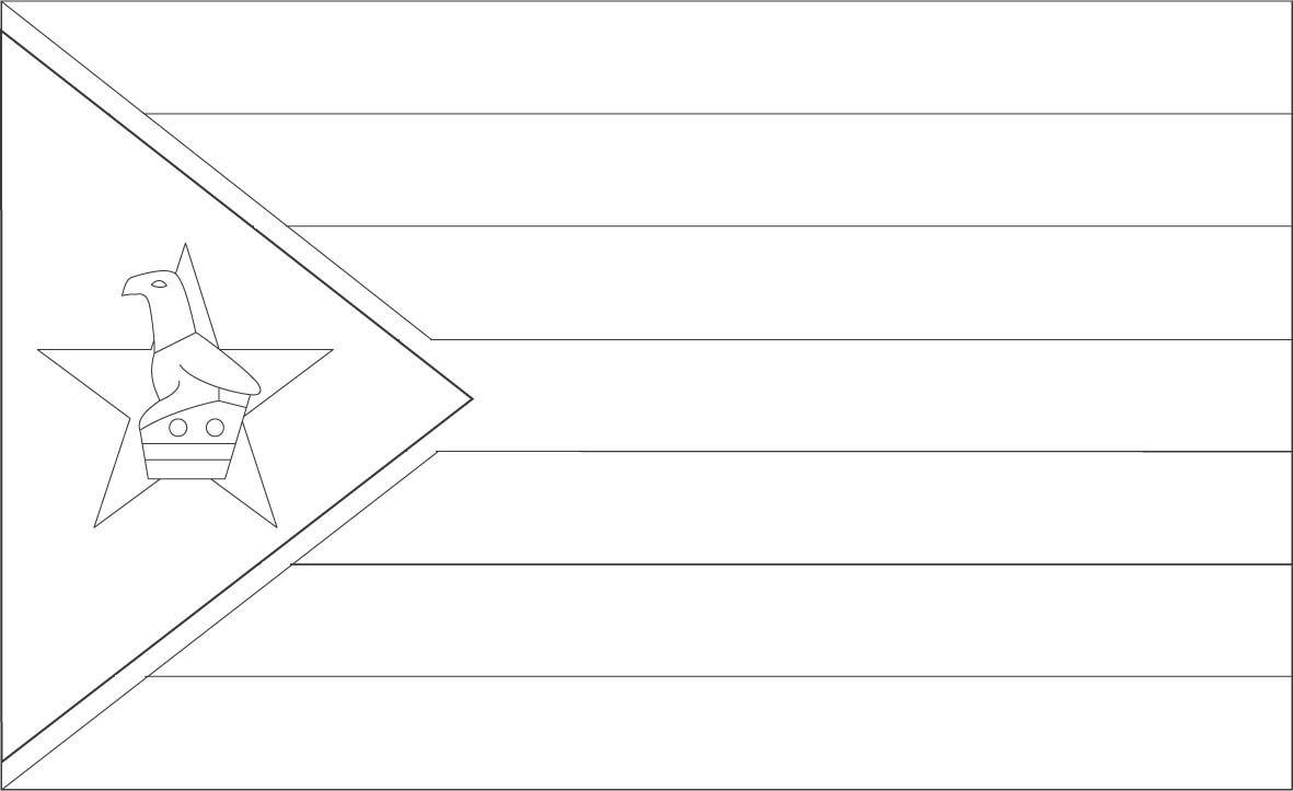 Zimbabwe flag coloring page :: Sonlight, Core C, Window on the World ...