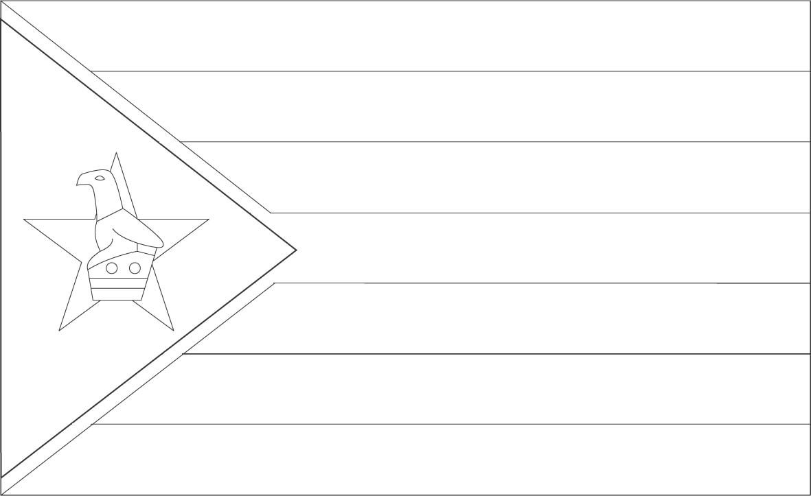 Zimbabwe Flag Coloring Page Sonlight Core C Window On The