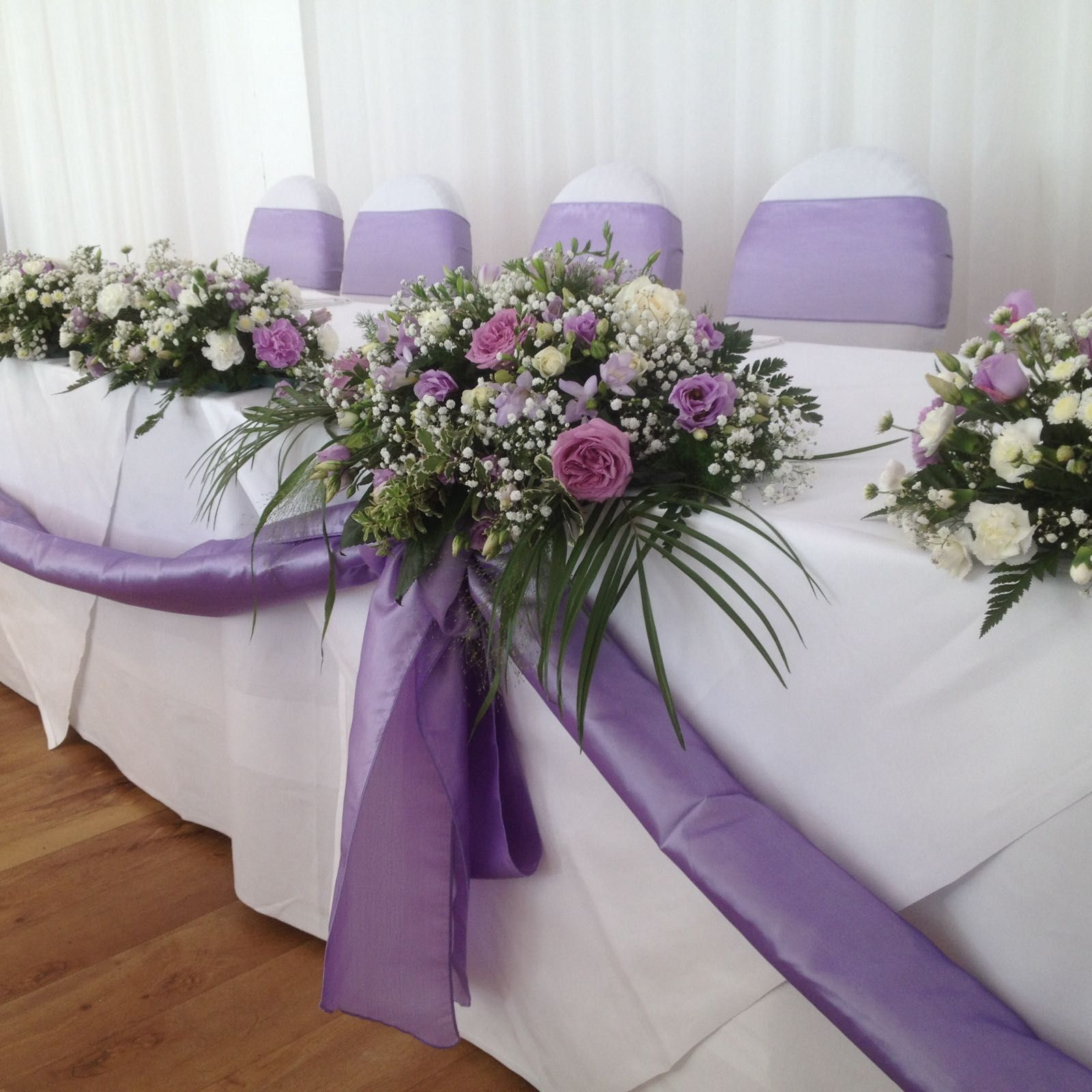 Lilac And Purple Reception Flowers Purple Wedding Flowers Table Purple Wedding Flowers Centerpieces Flower Table Decorations