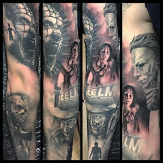 Images Tagged With Horrortattoos On Instagram Horror Tattoo Movie Tattoos Horror Movie Tattoos