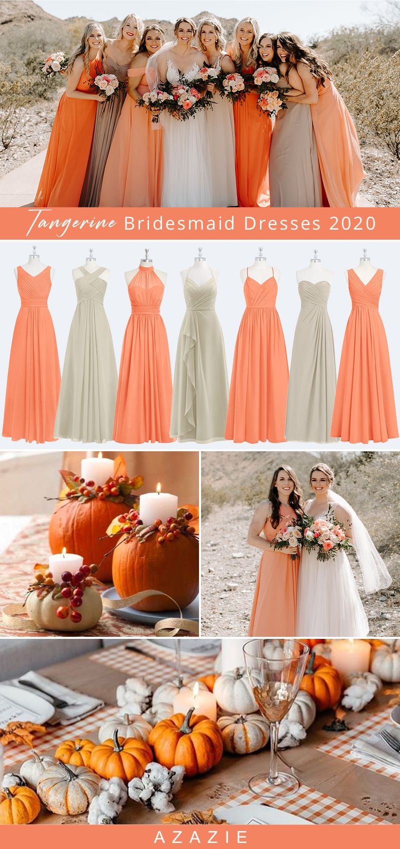 Bridesmaid Dress Color Guide Tangerine Bridesmaid Dresses Bridesmaid Dresses Azazie Bridesmaid Dresses [ 1697 x 800 Pixel ]