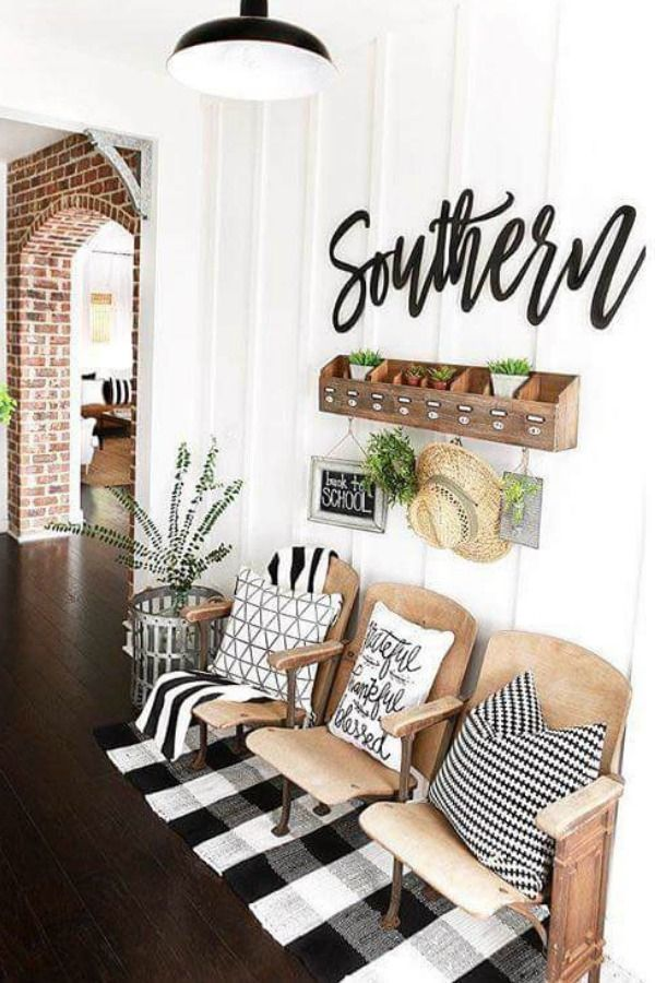Black White Buffalo Check Modern Farmhouse DecorFarmhouse