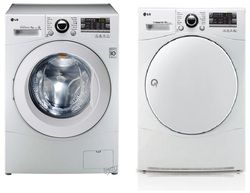 LG Electronics Tvätt- och torkpaket 11000kr  8 kg i båda. Centrifugering 1400. RC8055AH1Z/F14A8TDA1