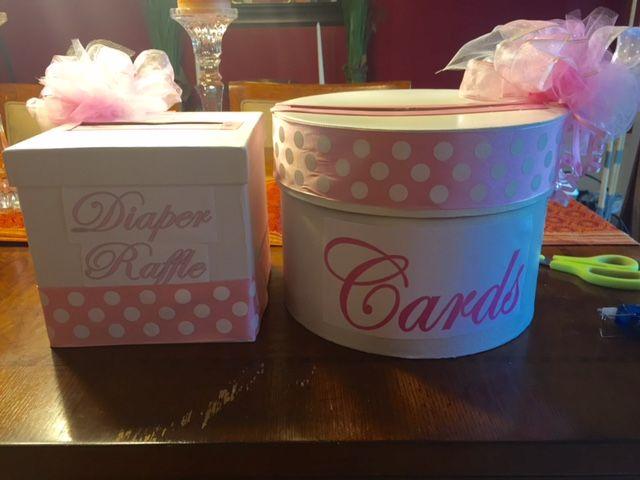 Baby Shower Card Boxes Diaper Raffle Box Card Box