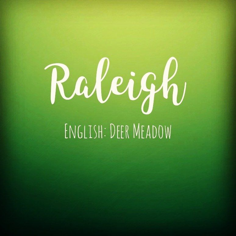 Raleigh This gender neutral English name meaning 'Deer ...