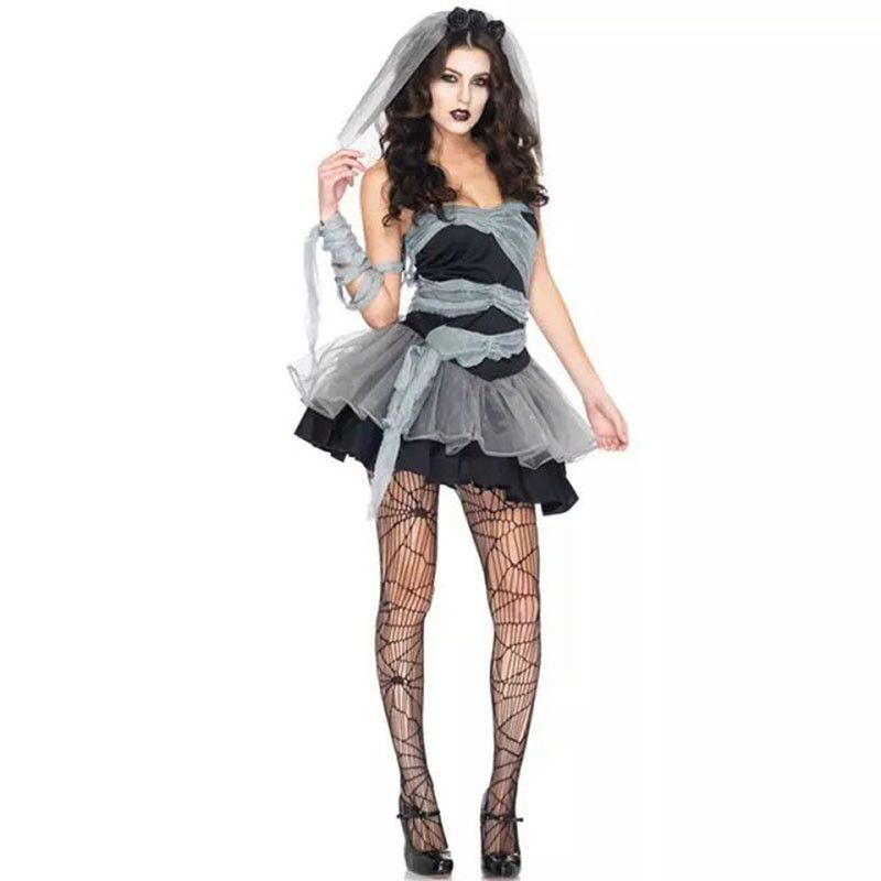 Vampire Zombie Cosplay Black Ghost Bride Costumes Witch