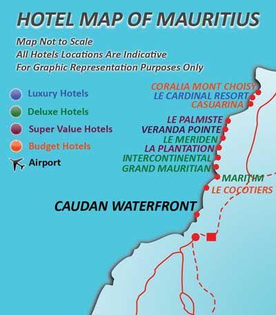 mauritius Mauritius Hotel Location Map Resort Location Map Of